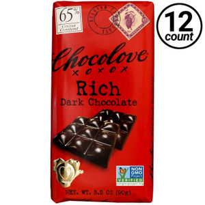 Chocolove, Rich Dark Chocolate 65% Cocoa, 3.2 oz. Bars (12 Count)
