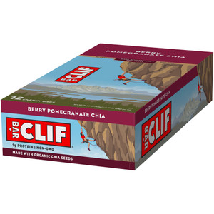 CLIF Bar, Berry Pomegranite Chia, 2.4 oz. bar (12 Count)