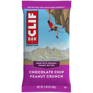 CLIF Bar, Chocolate Chip Peanut Crunch, 2.4 oz. (12 Count)