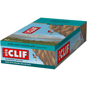 CLIF Bar, Cool Mint Chocolate with Caffeine, 2.4 oz. (12 Count)