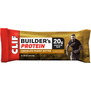 CLIF Builders, Protein Bars Chocolate Peanut Butter, 2.4 oz. Bars (12 Count)