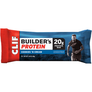 Clif Builder's, Protein Bars, Cookies'n Cream 2.4 oz. Bars (12 Count)