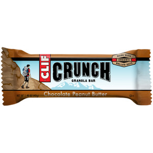 CLIF CRUNCH, Granola Bar, Chocolate Peanut Butter, 1.5 oz. Bars (5 Count)