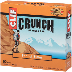 CLIF CRUNCH, Granola Bar, Peanut Butter, 1.5 oz. Bars (5 Count)