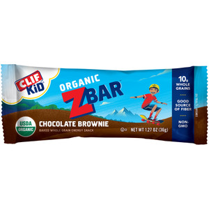 CLIF kid Z-Bar, Organic Chocolate Brownie, 1.27 oz. Bars (18 Count)