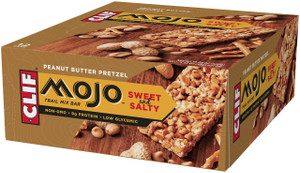 CLIF Mojo Sweet & Salty, Peanut Butter Pretzel Trail Mix Bar, 1.59 oz. Bars (12 Count