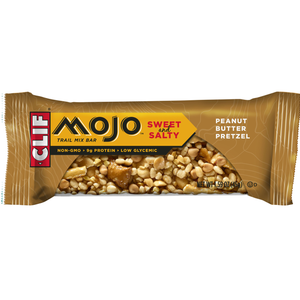 CLIF Mojo Sweet & Salty, Peanut Butter Pretzel Trail Mix Bar, 1.59 oz. Bars (12 Count