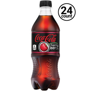 Coca Cola, Cherry Coke Zero Sugar, 20.0 oz. Bottle (24 Count)