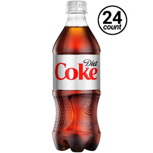 Coca Cola, Diet Coke, 20 oz. Bottles ( 24 Count Case)