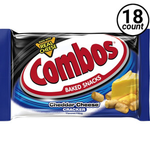 Combos, Cheddar Cheese Crackers, 1.7 oz. Bags (18 Count Case)