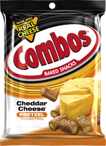 Combos, Cheddar Cheese Pretzel, 7 oz. Bag (1 Count)
