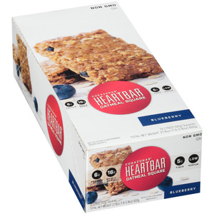 Corazonas, Oatmeal Square, Blueberry, 1.76 oz. bar (12 Count Case)