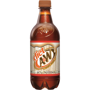 A&W, Diet Root Beer, 20.0 oz. Bottle (1 Count)