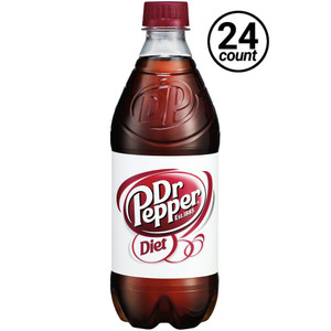 Diet Dr. Pepper, 20 oz. Bottles (24 Count Case)