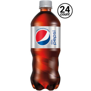 Diet Pepsi, 20 oz. Bottles ( 24 Count Case)