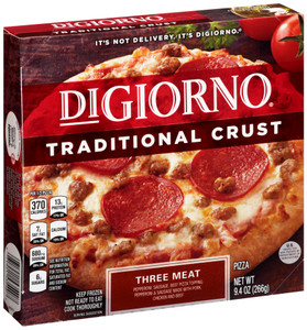 DiGiorno, Traditional Crust, Three Meat Pizza, 6.5 inch (1 Count)