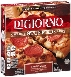 DiGiorno, Cheese Stuffed Crust, Three Meat, 8.5 oz. Pizza (1 Count)