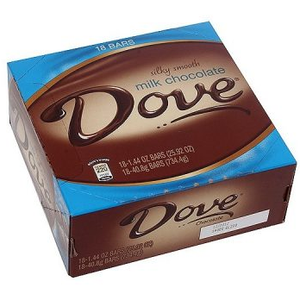 Dove, Silky Smooth Milk Chocolate, 1.44 oz. (18 Count)