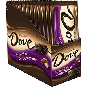 Dove, Silky Smooth Roasted Almond Dark Chocolate, 3.3 oz. Bars (12 Count)