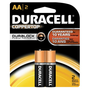 "Duracell, Coppertop, ""AA"" cell, two pack"