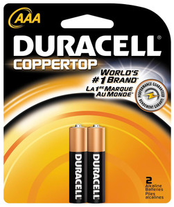 "Duracell, Coppertop, ""AAA"" cell, two pack"