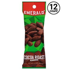 Emerald Nuts, Cocoa Roast Almonds, 1.5 oz. Bag (12 Count)