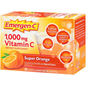 Emergen C, Super Orange, 1,000 mg Vitamin C, 0.3 oz. (30 Count)