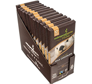 Endangered Species Chocolate All-Natural, Otter, Smooth Milk Chocolate, 3.0 oz. Bar (12 Count)