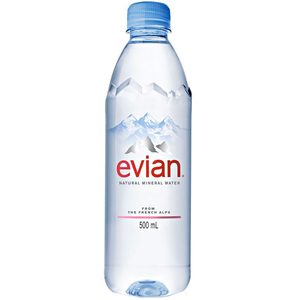 Evian Natural Spring Water, 500ml Bottle (1 Count)