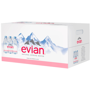 Evian Natural Spring Water, 500ml PET (24 Count Case)