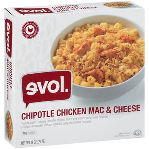EVOL, Macaroni & Cheese, Chipolte Chicken, 8 oz. (1 Count)