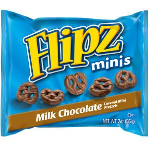 Flipz, Milk Chocolate Pretzel Minis, 2.0 oz. Peg Bags (12 Count)