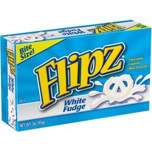 Flipz, White Fudge Pretzel Bite Size, 3.0 oz. Theater Box (1 Count)
