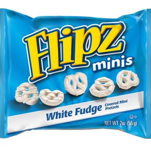 Flipz, White Fudge Pretzel Minis, 2.0 oz. Peg Bags (12 Count)