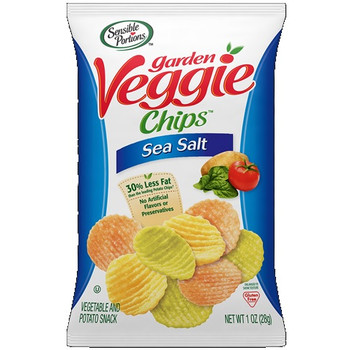 Garden Veggie Chips, Sea Salt, 1.0 oz. Peg Bag (1 Count)