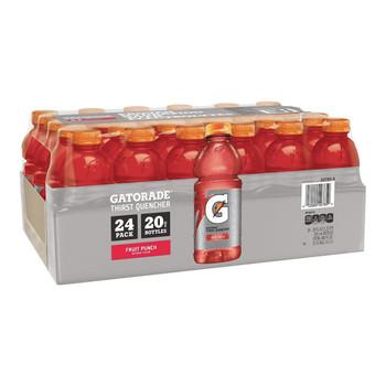 Gatorade, Fruit Punch, 20 oz. Bottles (24 Count Case)