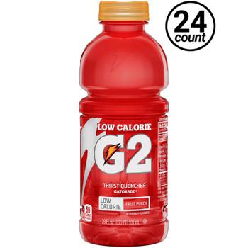 Gatorade, G2 Fruit Punch, 20 oz. Bottles (24 Count Case)