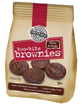 Give and Go, Two-Bite, Brownies, 2.46 oz. Bag (1 Count)