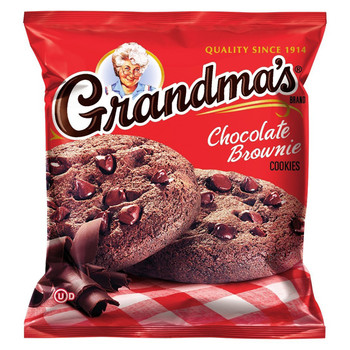 Grandma's, 2 Chocolate Brownie, Soft Cookies, 2.5 oz. Bag (1 Count)