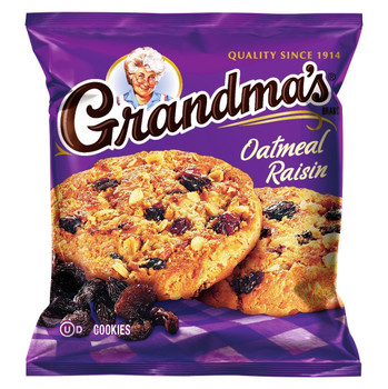 Grandma's, 2 Oatmeal Raisin Soft Cookies, 2.5 oz. Bag (1 Count)