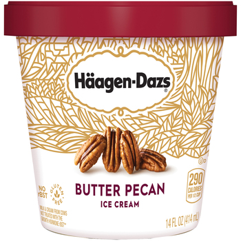 Haagen-Dazs, Butter Pecan Ice Cream, Pint (1 Count)