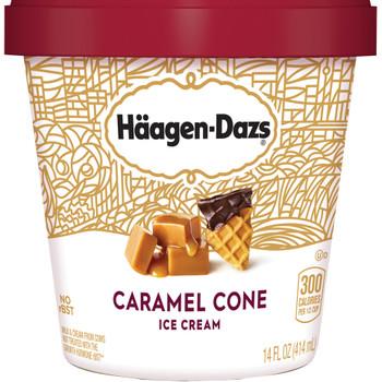 Haagen-Dazs, Caramel Cone Ice Cream, Pint (1 Count)