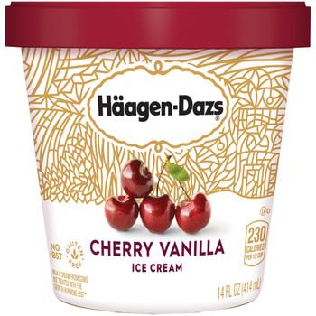 Haagen-Dazs, Cherry Vanilla Ice Cream, Pint (1 Count)