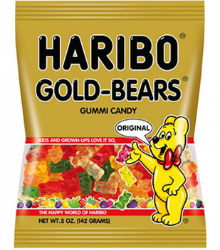 Haribo Gummi Candy, Gold Bears, 5.0 oz. Bag (1 Count)