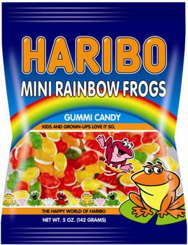 Haribo Gummi Candy, Mini Rainbow Frogs, 5.0 oz. Bag (1 Count)