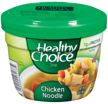 Healthy Choice, Chicken Noodle, 14 oz. Microwavable Soup Bowl (1 Count)