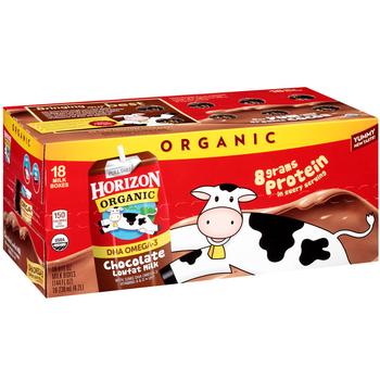Horizon Organic, Lowfat Chocolate Milk, 8 oz. Carton (18 Count Case)