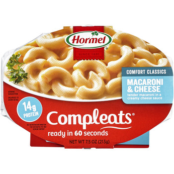 Hormel, Compleats, Macaroni & Cheese, 7.5 oz. Tray (1 Count)