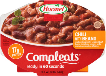 Hormel, Compleats, Chili with Beans, 10 oz. Tray (1 Count)