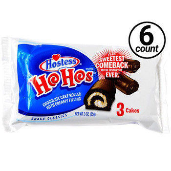 Hostess, Ho Hos, 3.00 oz. Pack (6 Count)